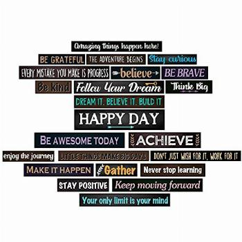 23 Pieces Inspirational Bulletin Board Decorations