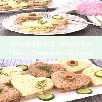 Adorable little Heart Tea Sandwiches are perfect for Valentine's Day party, or any lunch party. A