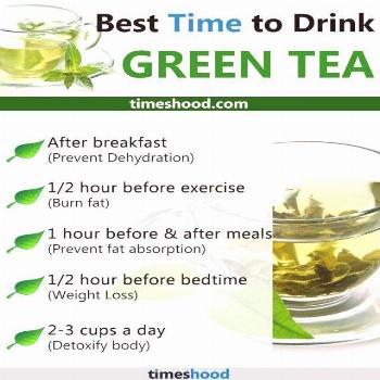 Best Time to drink green tea. When to drink green tea for weight loss. Right tim