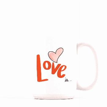 Excited to share this item from my shop: Love is mug, valentines day gift for her, gift for tea lov