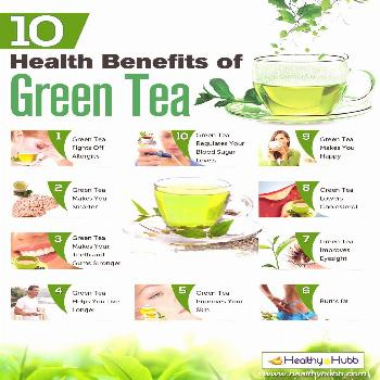 Green tea is so healthy and make me not retain water as much.