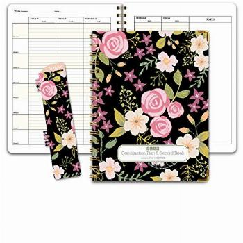 HARDCOVER Combination Plan and Record Book - 8 Period