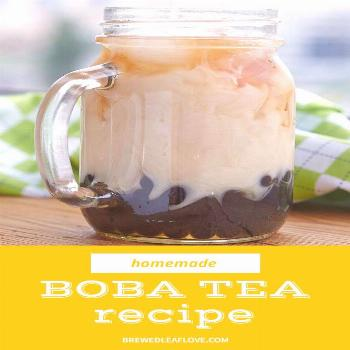 If you love boba tea like me, you'll love to make your own at home.  Full of chewy bubble tea goodn