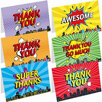 Kid Thank You Cards 36 Thank You Notes Greeting Cards with