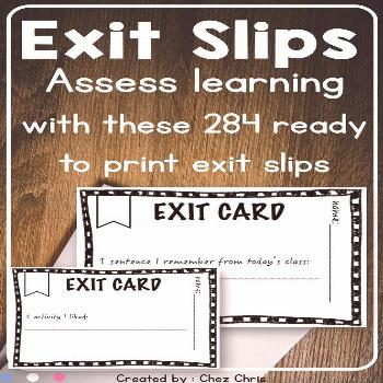 Looking for a way to assess your students learning at the end of a lesson? Look no further ! These