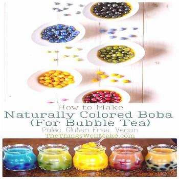 Making your own black boba or tapioca pearls in a vibrant rainbow of colors is actually quite easy
