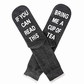 Novelty Saying If You Can Read This Bring Me Tea Socks Funny