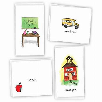 School Thank You Cards - 24 Cards & Envelopes
