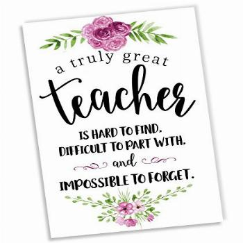 Teacher Appreciation Thank You Cards and Envelopes - Thick