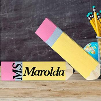 Teacher Gifts - 2 Pack Personalized Pencil Teacher Name
