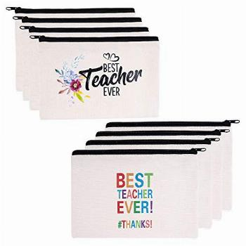 Teacher Gifts, 8 Pieces Makeup Pouch Cosmetic Bag Travel