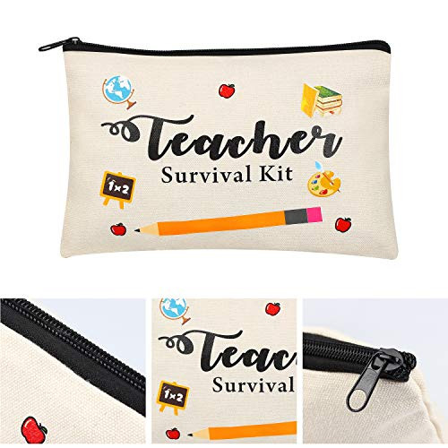 8 Pieces Teacher Appreciation Gifts Makeup Pouch Cosmetic