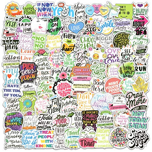 Colorful Inspirational Positive Stickers 100pcs,