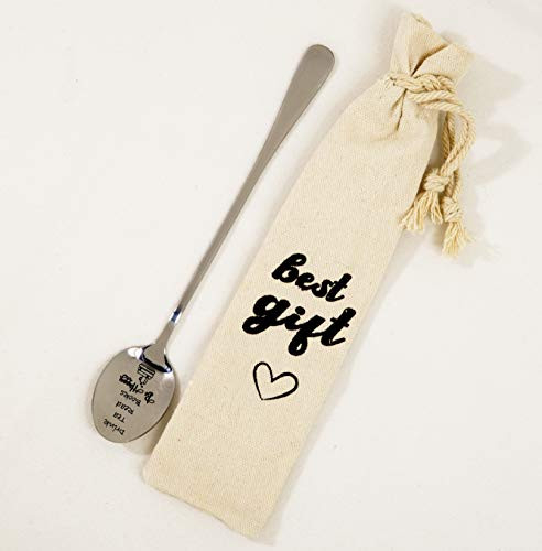 Drink Tea Read Book Spoon Gift For Tea Lover or Book Lover