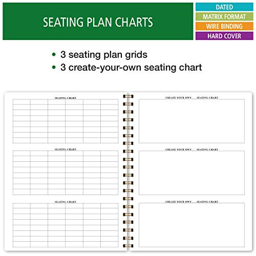 HARDCOVER 7 Period Dated Teacher Lesson Plan Days