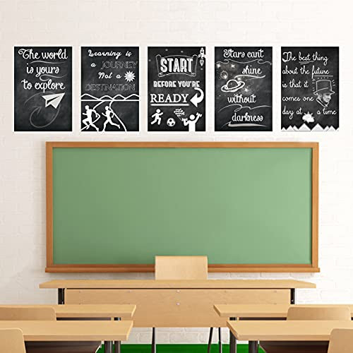 Motivational Posters for Classroom School Decorations-